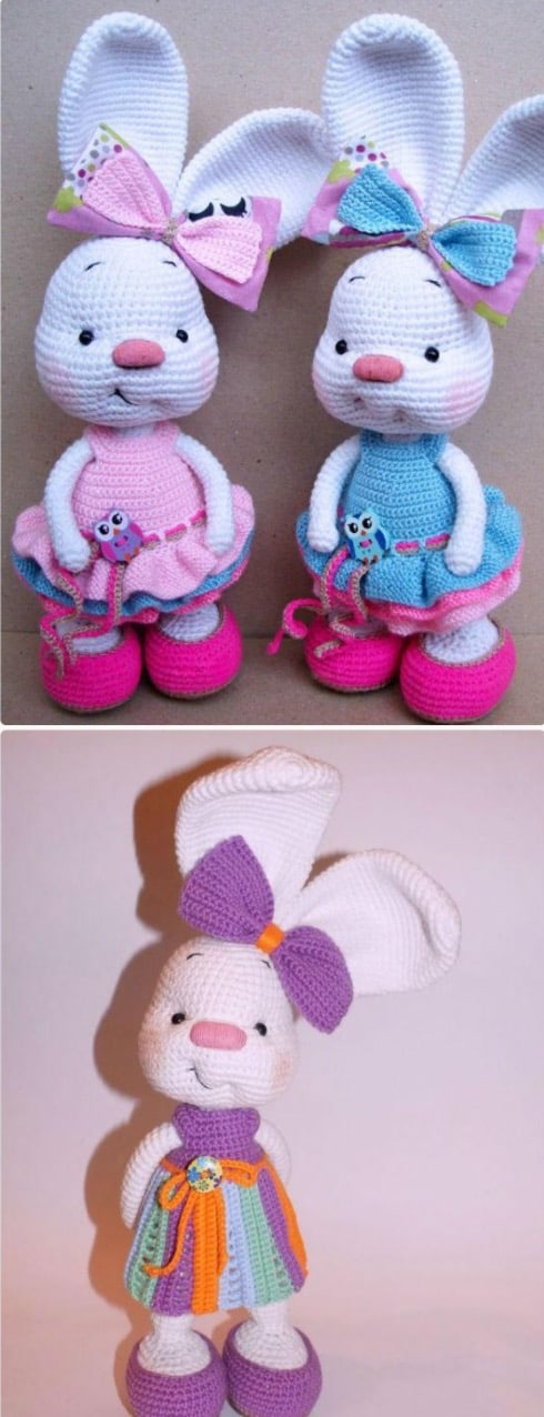 Crochet Bunnies Free Pattern