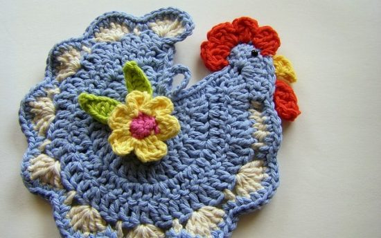 Crochet Chicken Pot Holder Pattern Free Video Tutorial