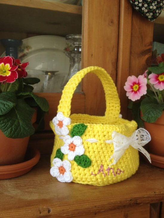 Crochet Easter Basket Free Pattern