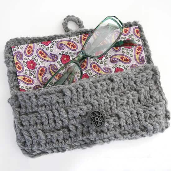 Crochet Eye Glass Holder Free Pattern