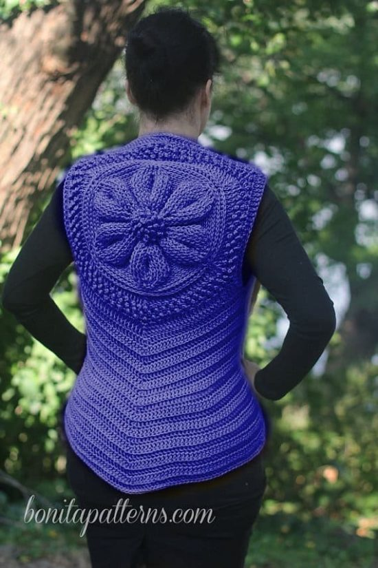 Crochet Jacket Embossed Pattern