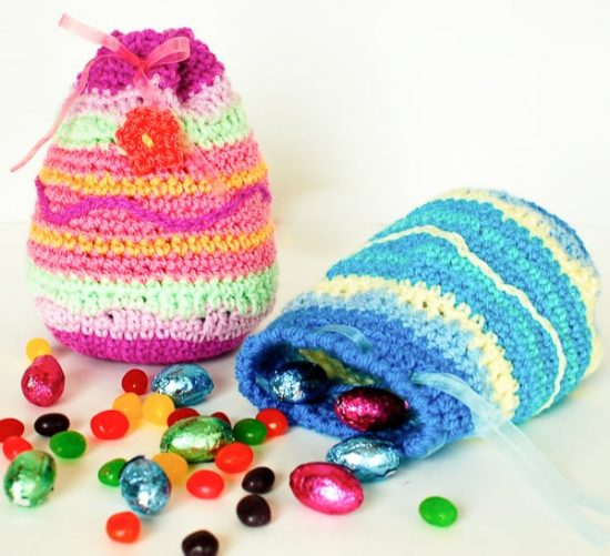 Easter Egg Treat Bags Free Pattern