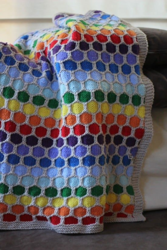 Honeycomb Knitted Blanket Pattern Video Tutorial
