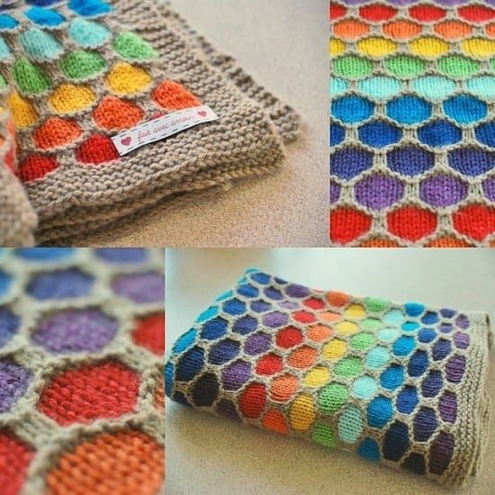 Honeycomb Knitted Blanket Pattern Video Tutorial : knit quilt - Adamdwight.com