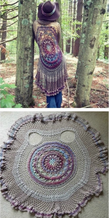 How to crochet a circle vest