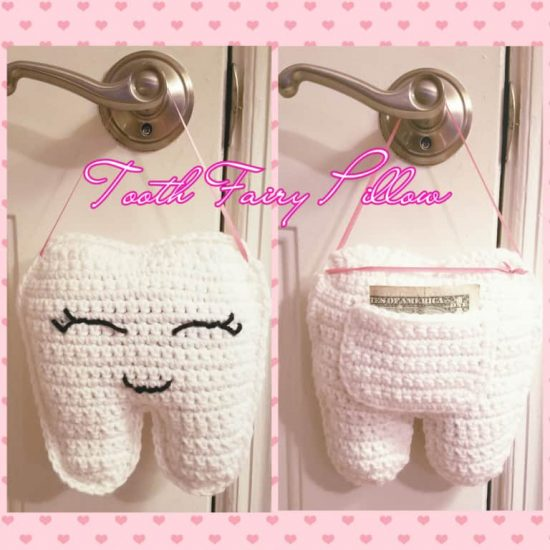 Tooth Fairy Pillow Free Crochet Pattern