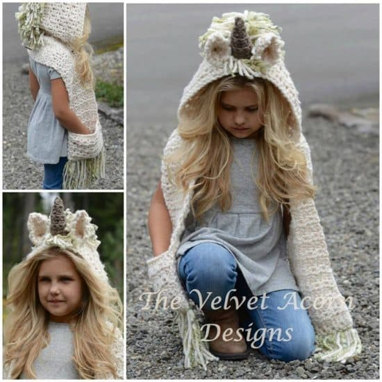 Unicorn Crochet Hat Scarf Pattern Is A Stunner