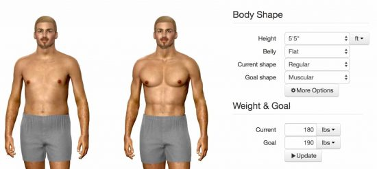weight loss simulator male