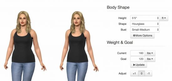 3D Body Simulator Weight Height - See Yourself At Your Goal