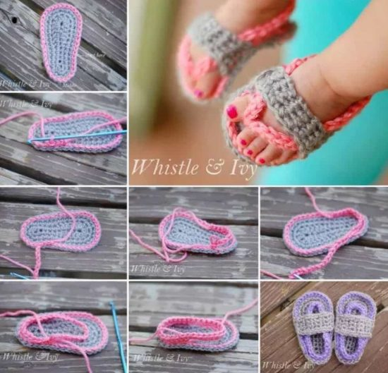 Crochet Baby Flip Flops Free Pattern Video Tutorial