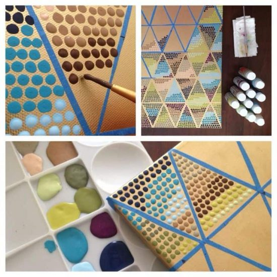 DIY Geometric Painting With Tape Ideas The WHOot - Tape painting