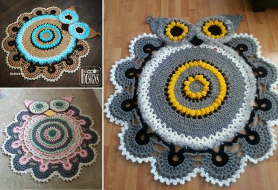 Owl Crochet Rug Pattern All The Cutest