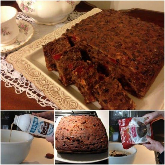 Ingredient Fruit Cake With Iced Coffee