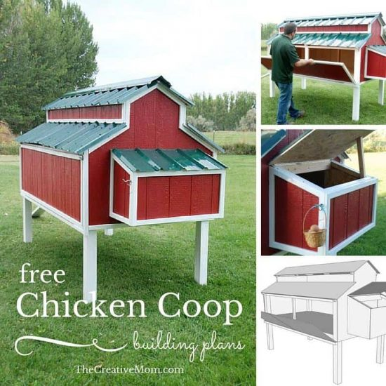 Via The Creative Mom. Pallet Backyard Chicken Coop