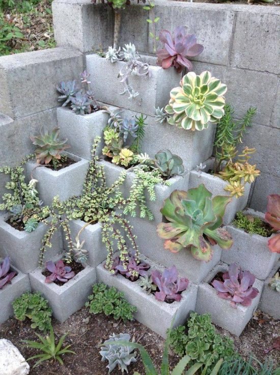 Cinder Block Planter is via Apartment TherapyReport