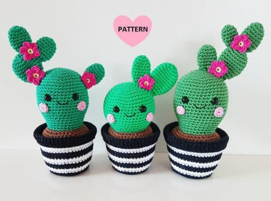 Crochet Cactus Patterns Best Ideas Video Instructions | 407x550