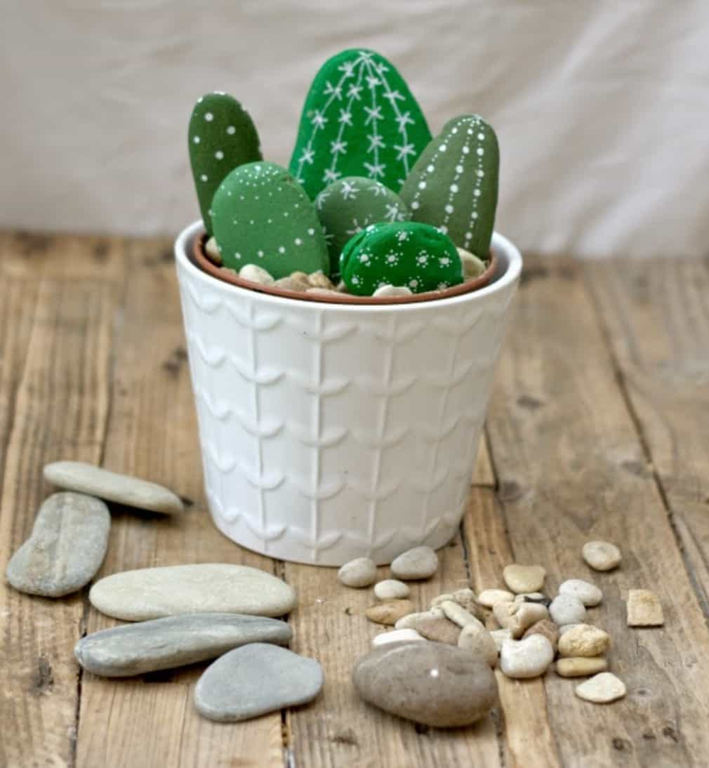 Painted cactus rock garden easy video instructions solutioingenieria Images