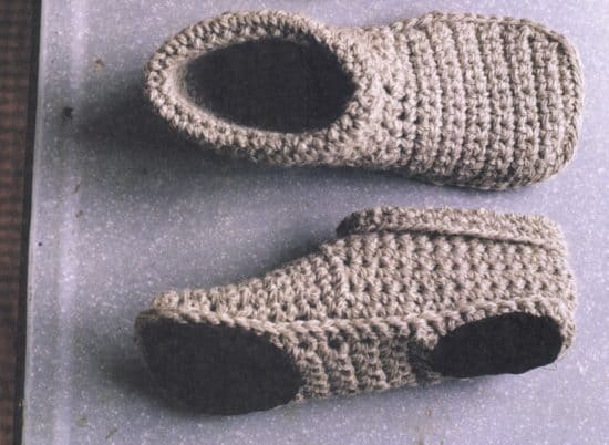 Unisex Slippers Crochet And Knitted Free Patterns
