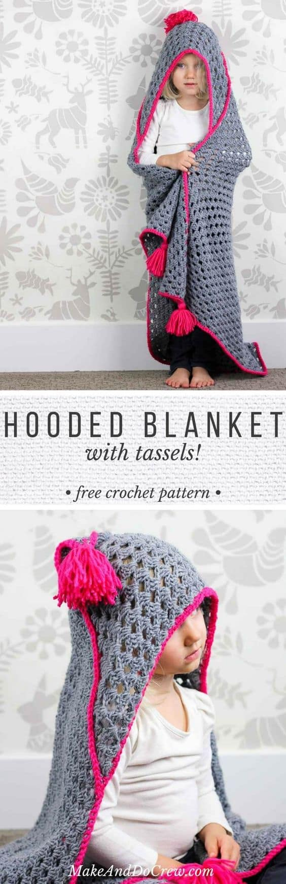 Crochet Hooded Blanket Pattern Pinterest Top Pins