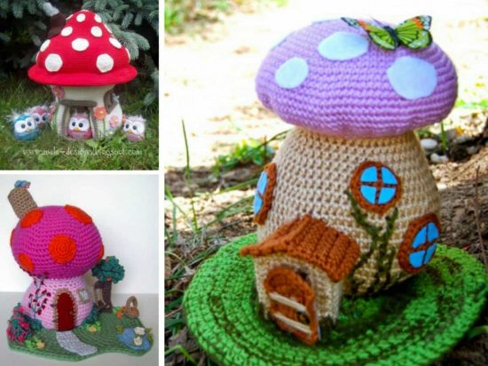 Crochet Mushroom House Lots Of Free Patterns The Whoot