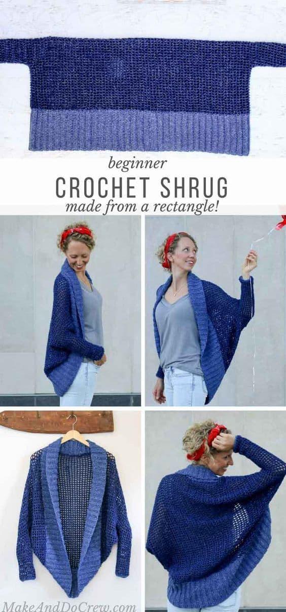 Crochet Shrug Rectangle