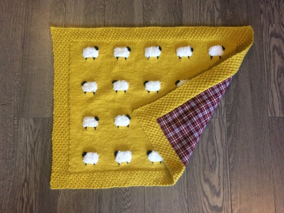 Knit Lamb Blanket Pattern Perfect For Baby