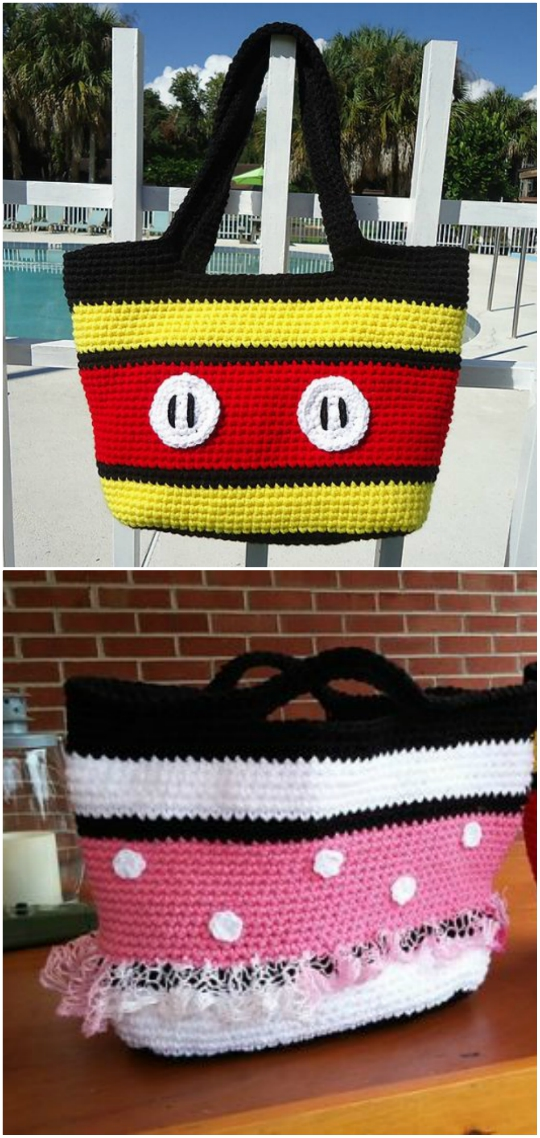 Mickey And Minnie Mouse Crochet Patterns The Whoot