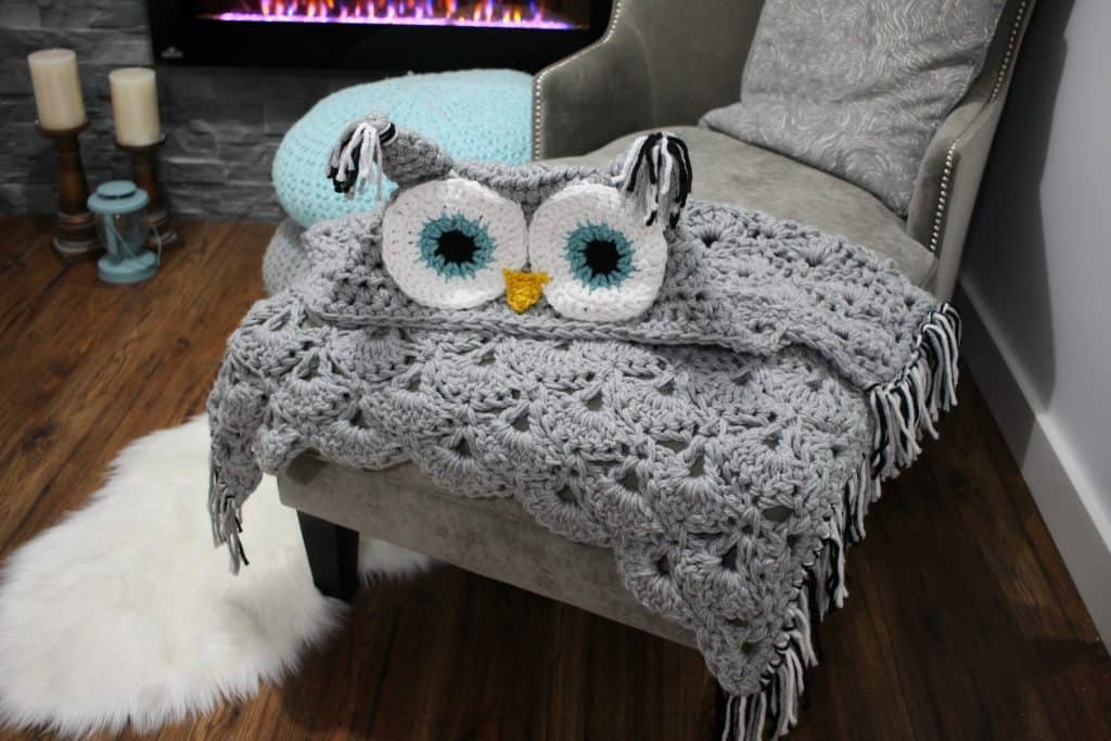 Crochet Owl Hooded Blanket Video Tutorial Included