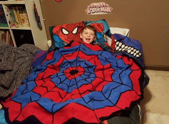 Spiderman Knitted Blanket Free Pattern The Whoot