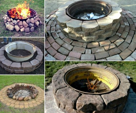 Firepit With  Car Rims