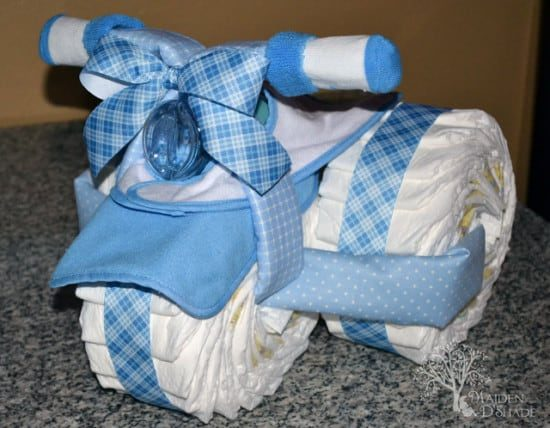Baby Tricycle Diaper Cake Tutorial