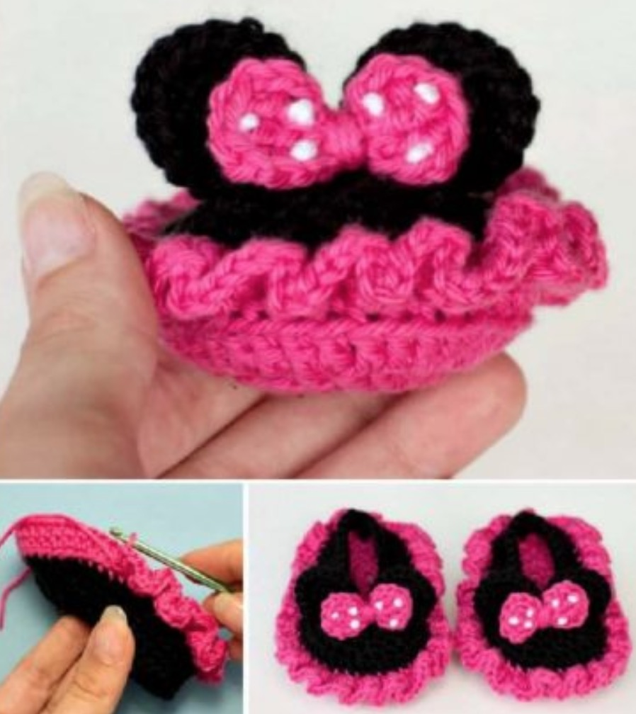 MINNIE MOUSE | Minnie mouse doll, Crochet mouse, Crochet baby toys | 1008x898