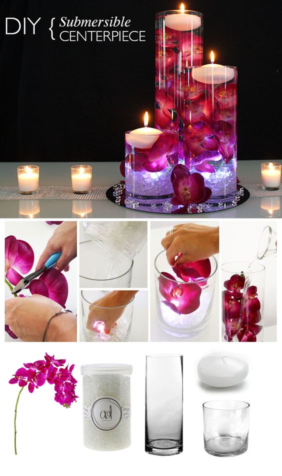 Centerpieces With Orchids And Floating Candles Video Tutorial
