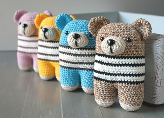 Amigurumi Teddy Bear Free Patterns : Tiny teddy crochet pattern watch the video tutorial