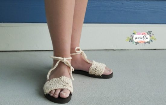 Simple Crochet Flip Flop Sandals Pattern Easy Video Tutorial