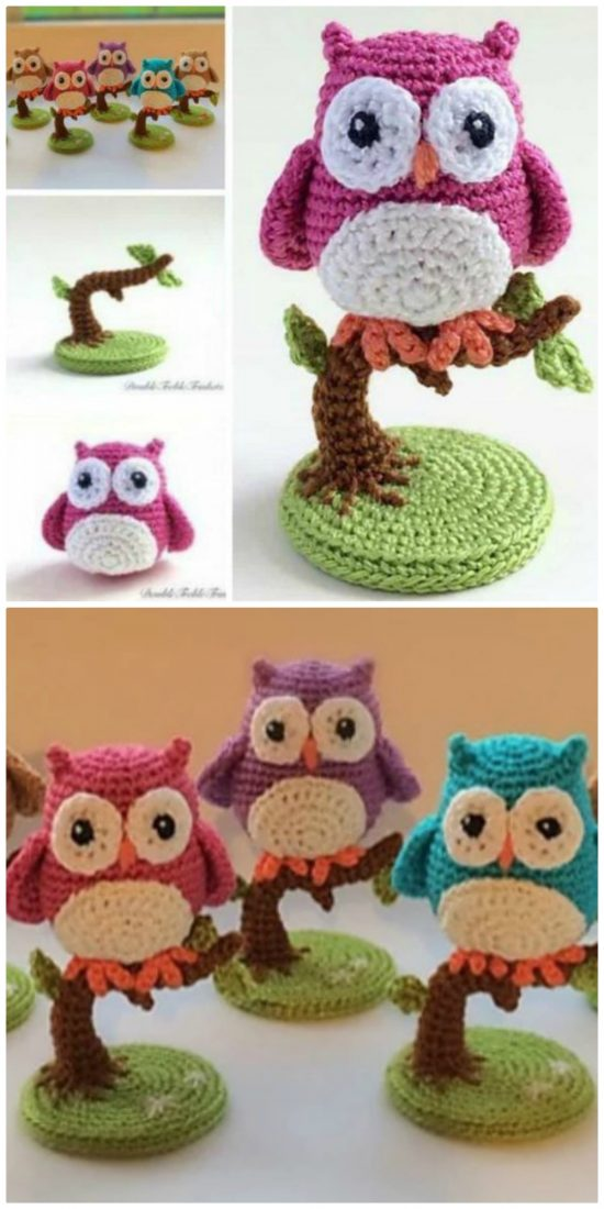 Free Crochet Patterns and Designs by LisaAuch: Free Crochet Owl ... | 1100x550