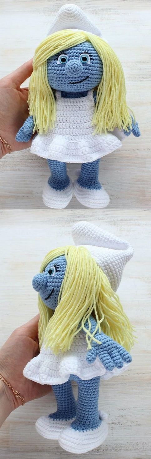 crochet smurf doll pattern