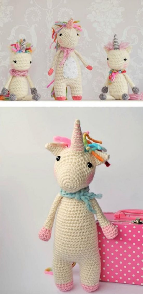 Free Crochet Unicorn Pattern - thefriendlyredfox.com | 1130x550