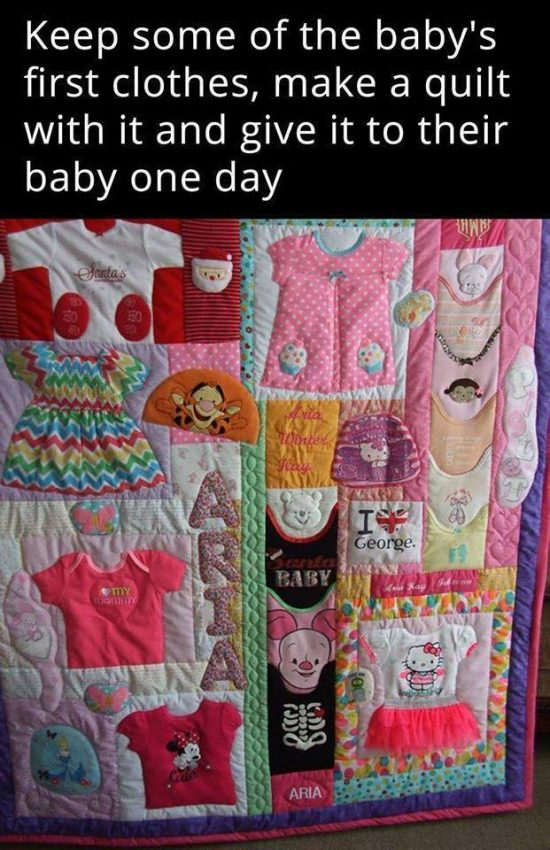 Diy baby clothes memory quilt pattern video tutorial for What to do with an old quilt