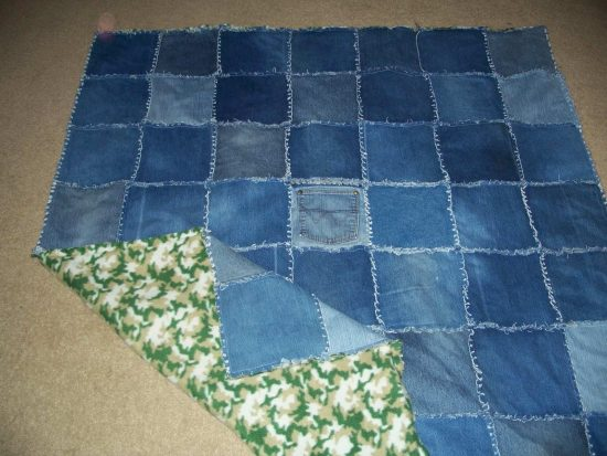 Diy Denim Rag Quilt Instructions Easy Video Tutorial
