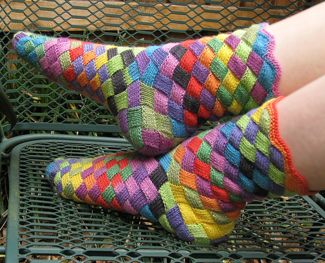 entrelac socks tutorial