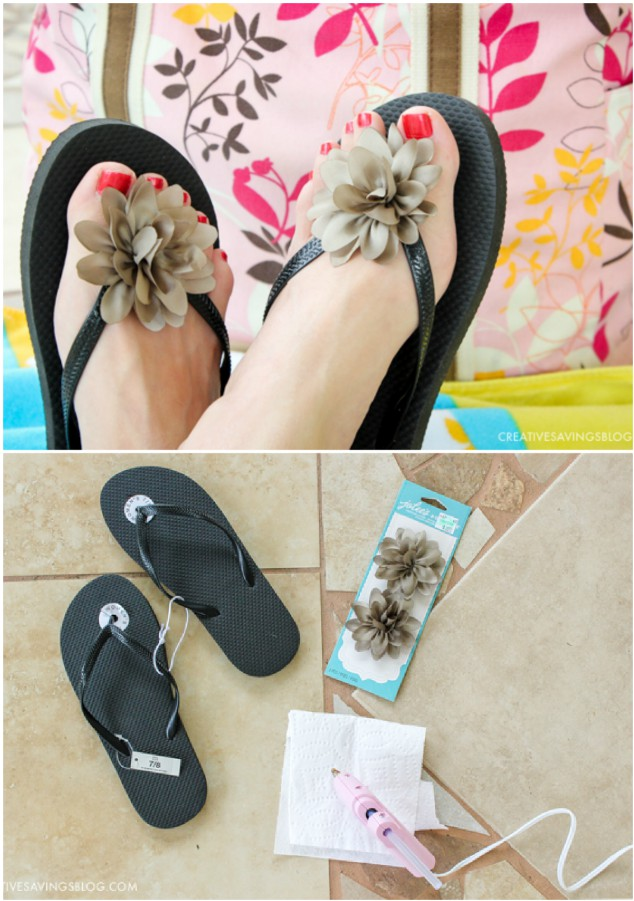 Upcycled flip flop diy ideas you 39 ll love for Flip flop storage ideas