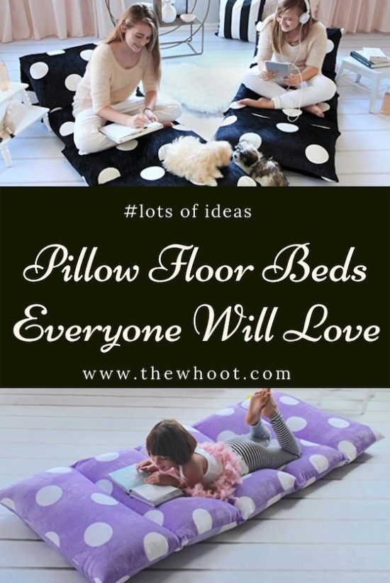 floor pillow bed