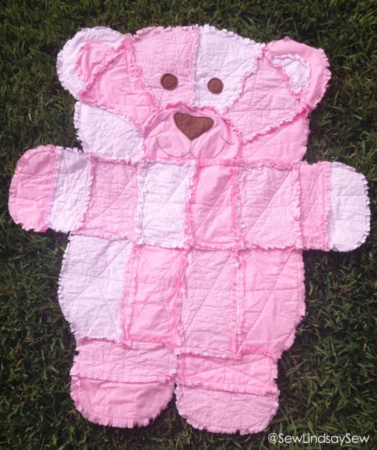 Teddy Bear Rag Quilt Pattern Easy Video Instructions