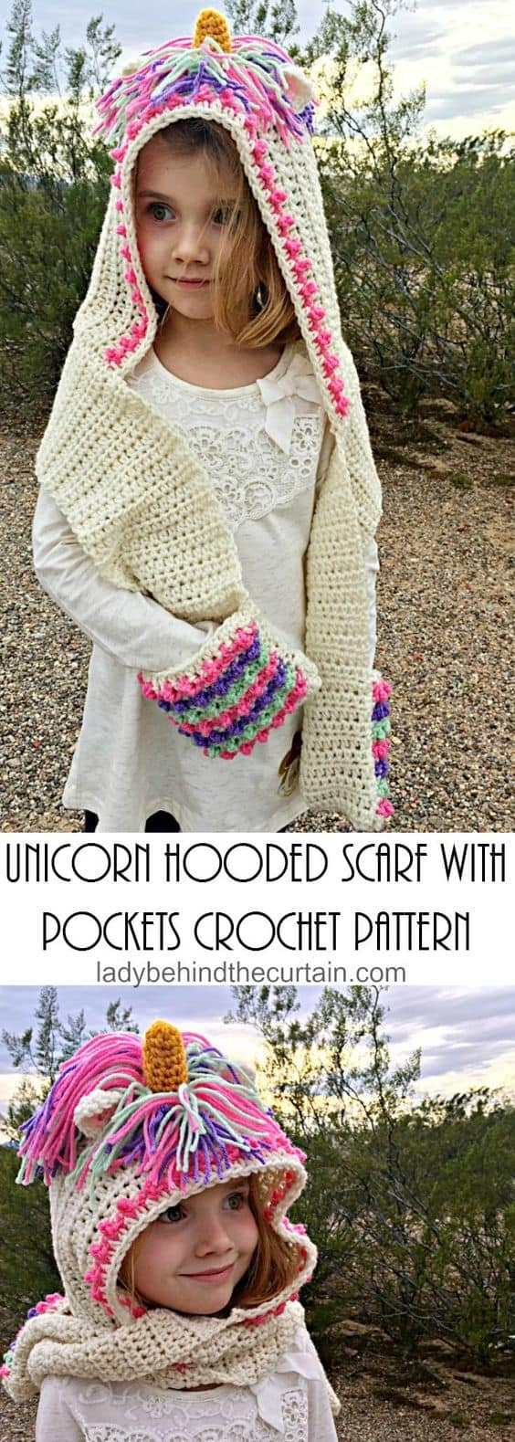 Unicorn Crochet Hat Scarf Pattern Is A Stunner b3f60e953fb