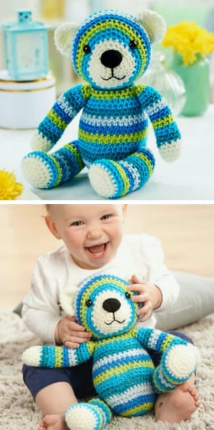 Cute Knitted Teddy Bear Clothes [FREE Knitting Pattern] | Knitted ... | 882x440