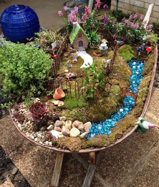 Wheelbarrow Garden Via Pinterest
