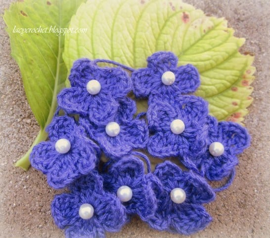 simple crochet flowers instructions