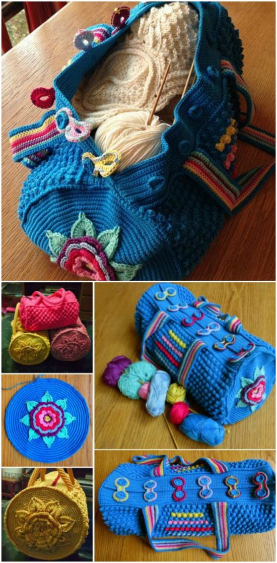 mermoz round crochet bag free pattern