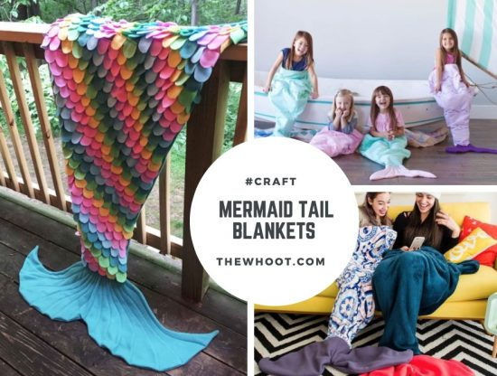 Fleece Mermaid Tail Blanket Pattern Free Sewing Ideas